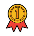 ribbon award first place icon image vector image