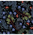 seamless pattern with flowers in art deco style vector image vector image