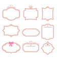 set of decorative frames set of decorative frames vector image