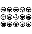 Set of different steering wheels vector image