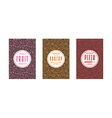 Set of template labels for bakery pizza vector image vector image