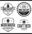 set of vintage monochrome badge logo templates vector image vector image
