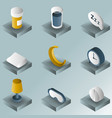 sleep color gradient isometric icons vector image