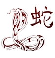 Snake as symbol for Chinese zodiac vector image