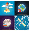 Space Theme Banners vector image