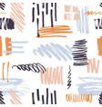 stylish seamless pattern with vivid brush strokes vector image