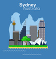 sydney city icon vector image