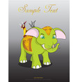 thai elephant cute animal character isolated on vector image vector image