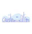 tokyo skyline japan city buildings linear vector image
