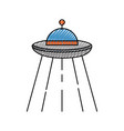 ufo flying isolated icon vector image vector image