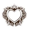 vintage baroque frame heart shape card vector image vector image