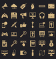 web game icons set simple style vector image vector image