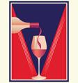 wine retro poster vector image vector image