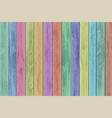 wooden multicolor panels texture timber vector image vector image