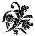 Swirls and flowers vector image