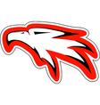 eagl head in red countur vector image