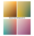 Collection of abstract backgrounds Blending colors vector image