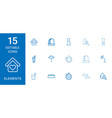 15 elements icons vector image vector image