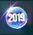 2019 happy new year background holiday of vector image vector image