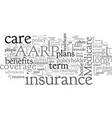 aarp long term care insurance vector image vector image