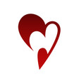 abstract heart symbol icon on white vector image