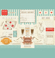 beer and fast food placemat vector image vector image