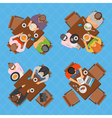 Business People In Cafe Top View Composition vector image vector image