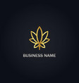 cannabis leaf gold logo vector image