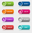 Colored set rectangular web buttons template vector image vector image