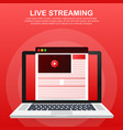 concept live streaming for web page banner vector image vector image