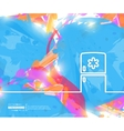 Creative fridge Art template vector image