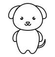 cute and tender dog kawaii style vector image vector image