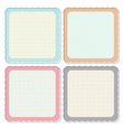 Cute Retro Framed Icon Set vector image vector image