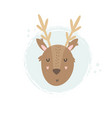 deer hand drawn face character vector image