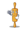 doctor rolling pin character cartoon vector image vector image
