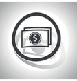 Dollar banknote sign sticker curved vector image
