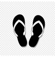 flip-flops icon isolated on transparent background vector image vector image