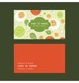 fresh salad horizontal frame pattern business vector image vector image