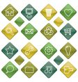 green icons set vector image vector image