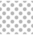 grey polka dots on white background retro seamless vector image