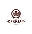 guitar country music western vintage retro saloon vector image vector image