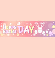 happy easter day horizontal poster design vector image
