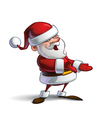 happy santa presenting to you vector image vector image