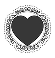 hearts love card isolated icon vector image vector image