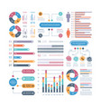 infographic graphs business chart process vector image vector image