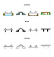isolated object of connection and design logo set vector image vector image