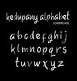 kedupany alphabet typography vector image vector image