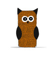 knitting owl for your design vector image