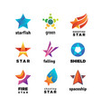 leader star rising stars logo comet with vector image vector image