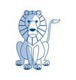 lion sits dangerous predator animal vector image vector image